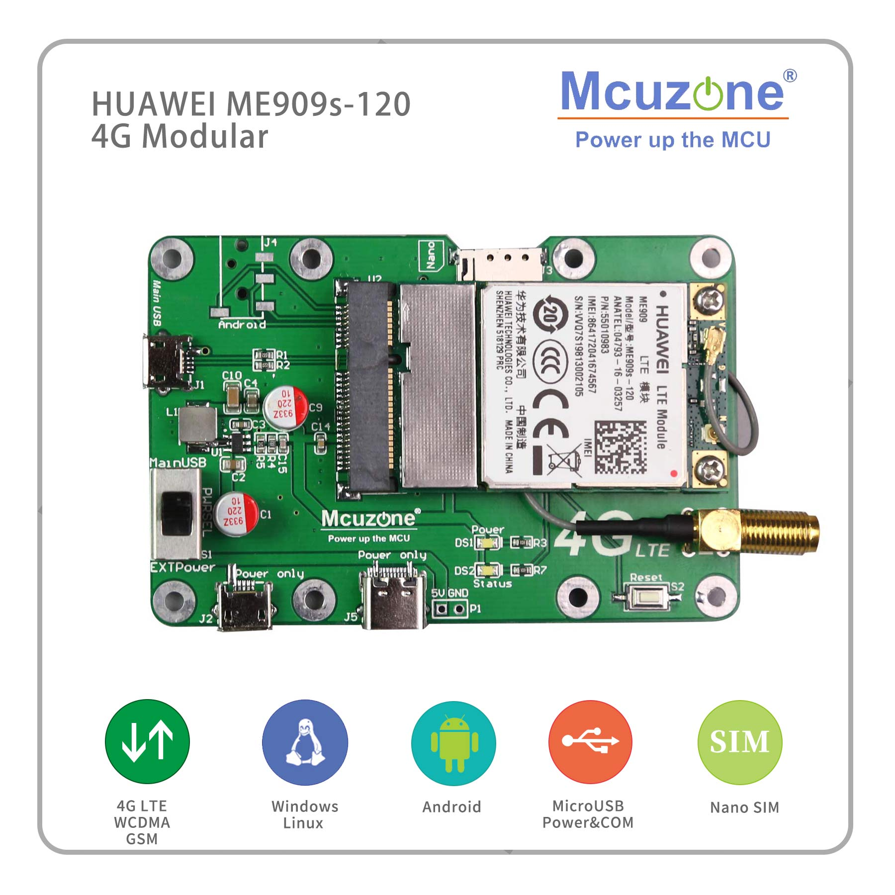 Huawei ME909s-120/821a USB High Performance 4G LTE Module For Global Carriers, Suitable For Raspberry Pi  Win10, Ubuntu