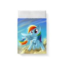 купить My Little Pony Bed Sheet Bed Linen Poplin Posciel Cotton Edredones De Cama  Couple Single Euro Kids Twin Xl Bedding Child Queen дешево