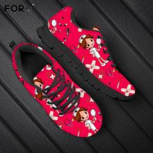 FORUDESIGNS Red Color Women Flats Shoes