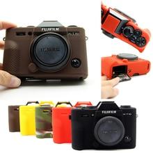 ยางซิลิโคนกระเป๋ากล้องฝาครอบสำหรับ Fuji Fujifilm XT3 XT 3 XT10 XT20 X T30 X A3 X A10 X T20 X T100 Protector SHELL