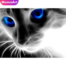 MomoArt Diy Diamond Painting Cat Embroidery Full Drill Square/round Mosaic Animal Cross Stitch
