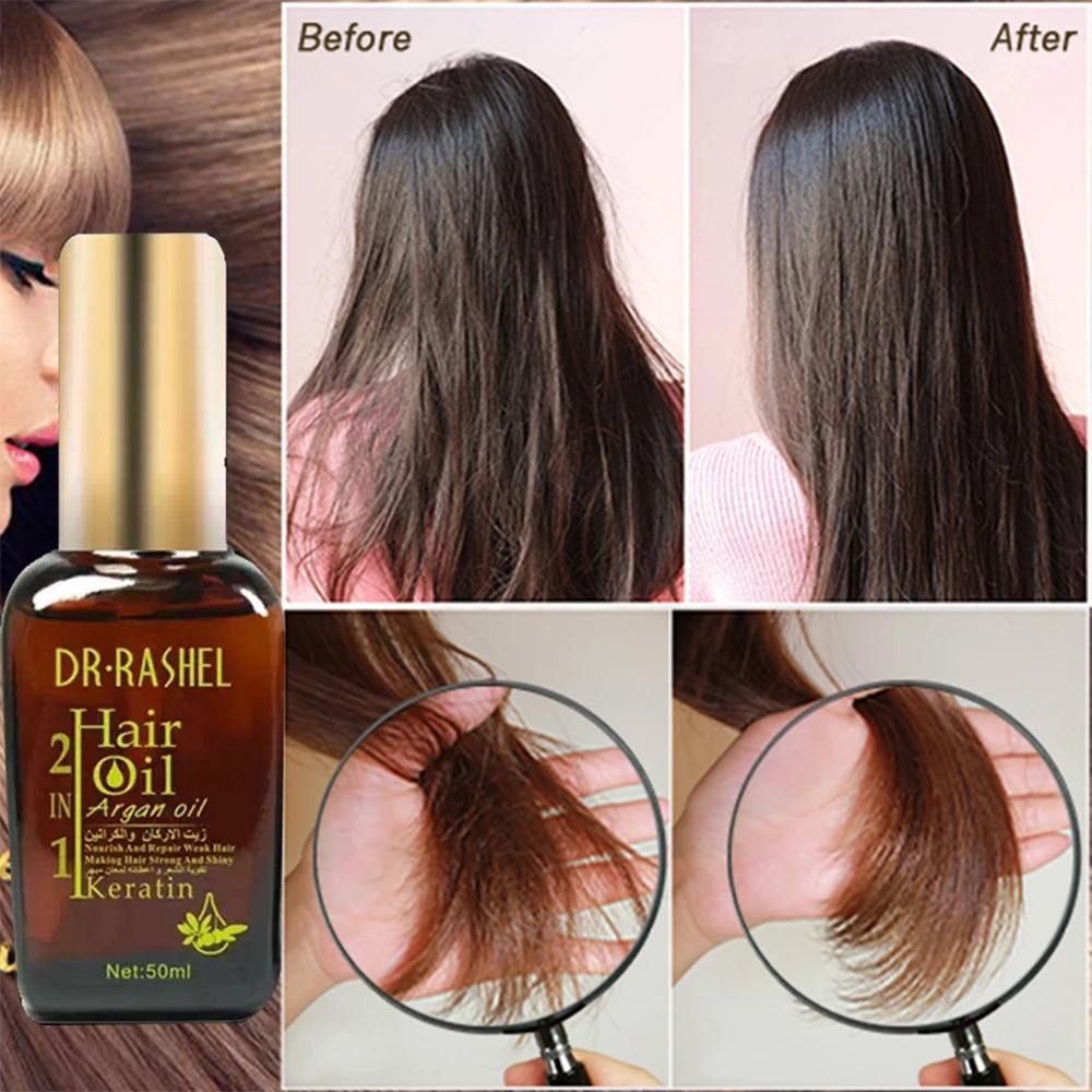 DR.RASHEL Argan Oil Moroccan Hair Essential Oil Hair Care Nutrition Hair  Keratin Treatment Nut Oil Repair Hair Split Carseel| | - AliExpress