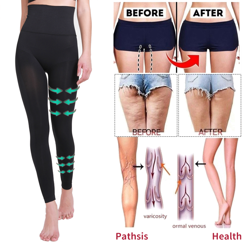 High Waist Leg Shapewear Anti Cellulite Compression Leggings Body Shaper Thigh Slimmer Slimming Tummy Control Fitness PantiesControl Panties   -