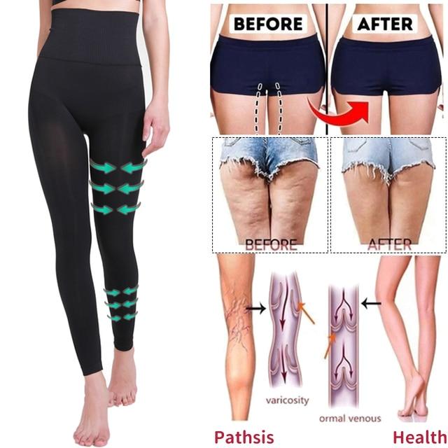 High Waist Leg Shapewear Anti Cellulite Compression Leggings Body Shaper Thigh Slimmer Slimming Tummy Control Fitness Panties