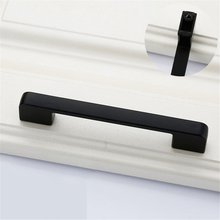 цена на Black Door Handles Wardrobe Drawer Pull Kitchen Cabinet Handles for Furniture Handles Hardware Accessories