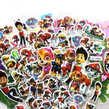 Hot 12 sheets/lot Dog Paw Patrol Sticker Ryder 3D cartoon PVC bubble wall stickers girls/boys birthday cute gift children toys r