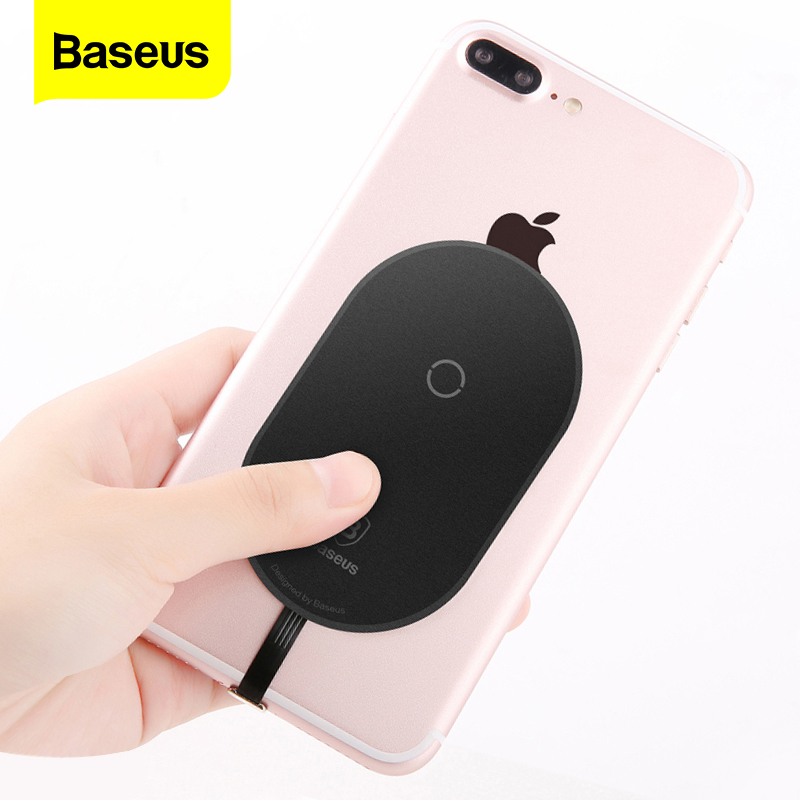 <font><b>Baseus</b></font> Qi Wireless Charger Receiver For <font><b>iPhone</b></font> 7 <font><b>6</b></font> <font><b>6s</b></font> Plus Wireless Charging Adapter Receptor For Samsung Xiaomi Android Phone image