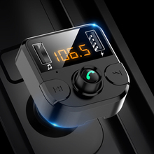 BT36B car Bluetooth 5.0 kit FM transmitter cigarette lighter hands-free MP3 player dual USB charger auto parts