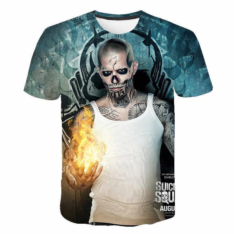 自殺分隊楽しい 3Dプリント · 半袖男性と女性の服ストリートtシャツ新原宿tシャツ