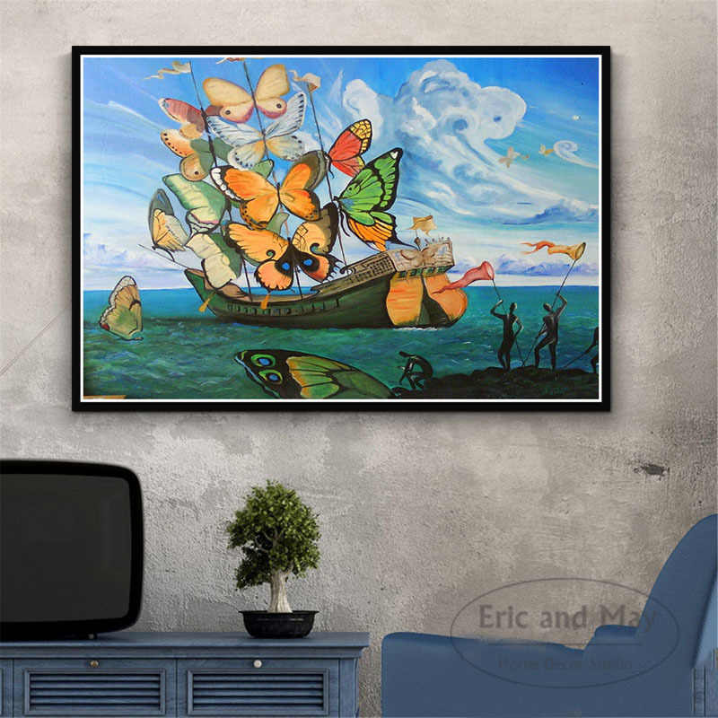 Psychedelische Salvador Dali Surrealisme Abstract Canvas Schilderij Posters En Prints Wall Art Foto Decoratieve Home Decor Plakat