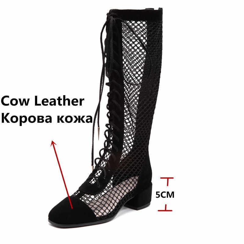 FEDONAS kadın pompaları bahar yaz dantel Up çapraz bağlı yuvarlak ayak zarif inek deri parti ayakkabıları balo pompaları ayakkabı kadın