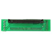 SCSI SCA 80 פין כדי 50 פין ממיר כרטיס מחשב כונן קשיח מתאם עבור כל U320/U160/LVD/SE