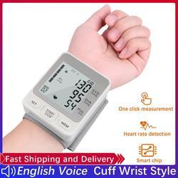 Cuff Wrist Blood Pressure Monitor Digital Automatic Blood Pressure Meter Heart Rate Pulse Portable Sphygmomanometer Tonometer