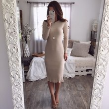 Autumn Knitted Long Dress Women O Neck Bodycon Winter Long Sleeve Solid Sexy Club Party Maxi Split Dresses Christmas Vestidos ebizza vintage knitted women two piece sets dresses autumn winter bodycon long sleeve dress o neck slim office party outwear new