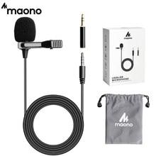 Micrófono inteligente MAONO Lavalier, micrófono de solapa omnidireccional con Clip, manos libres, para entrevista, vídeo Vocal