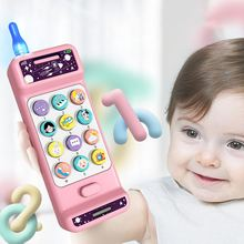 Детский телефонный аппарат светильник и звук игрушка для телефона