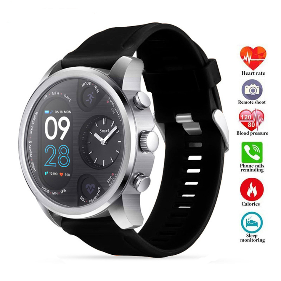 COXRY Dual <font><b>Display</b></font> IP68 Waterproof <font><b>Smart</b></font> <font><b>Watch</b></font> Men 15 Day Standby Heart Rate Monitor Smartwatch Fitness Tracker Health Wristband image