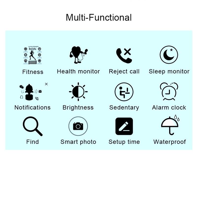 Femmes montre intelligente Sport montre étanche moniteur de fréquence cardiaque couleur écran Bluetooth montre-bracelet Fitness Tracker pour Android IOS 2