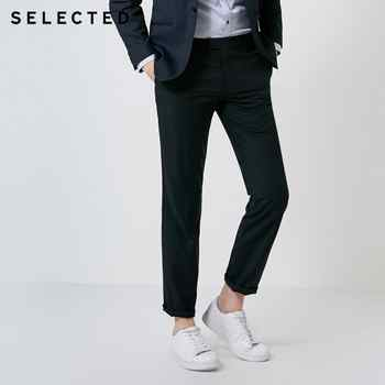 SELECTED new men's simple solid color business series regular fit pants T|41836A509 - DISCOUNT ITEM  62% OFF All Category