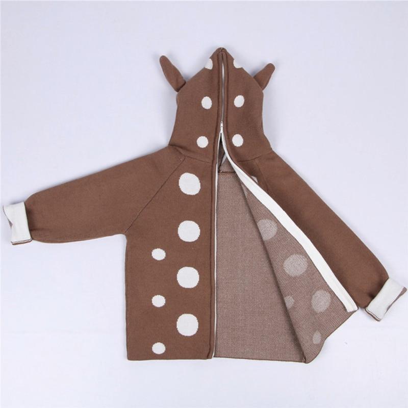 2021 New Kids Girls Knitted Cartoon Sweater Winter Boys Sweater 3D Rabbit Bunny Pullover Baby Girls Winter Clothing 5