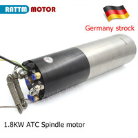 EU Delivery! 1.8KW ATC Spindle motor Dia 80mm, ISO20 220V 24Z Permanent POWER Water cooled Spindle FOR CNC Machine