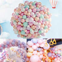 100pcs/lot Pack of 100 Macaron Candy Colored Party Balloons Set Pastel Latex Balloons Party Wedding Accessories 10 Inch