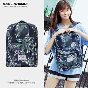 Image 1 - 새로운 트렌드 여성 배낭 패션 여성 배낭 대학 학교 가방 가방 하라주쿠 여행 어깨 가방 10 대 소녀 2020