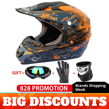 Full Face Motorcycle Helmet Casco Moto Motocross Helmet Off Road Helmet ATV Dirt Bike Downhill MTB DH Capacete Moto Glasses стоимость