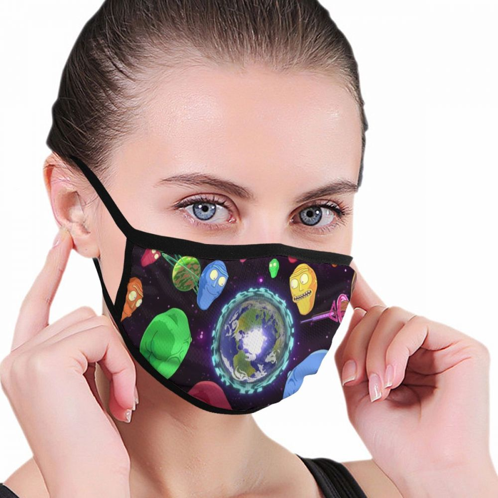 3d Print Rick And Morty Anime Kpop Lucky Bear Woman Men2019-nCoV Mouth Masks Black Mask Mouth Half Muffle Face Mask