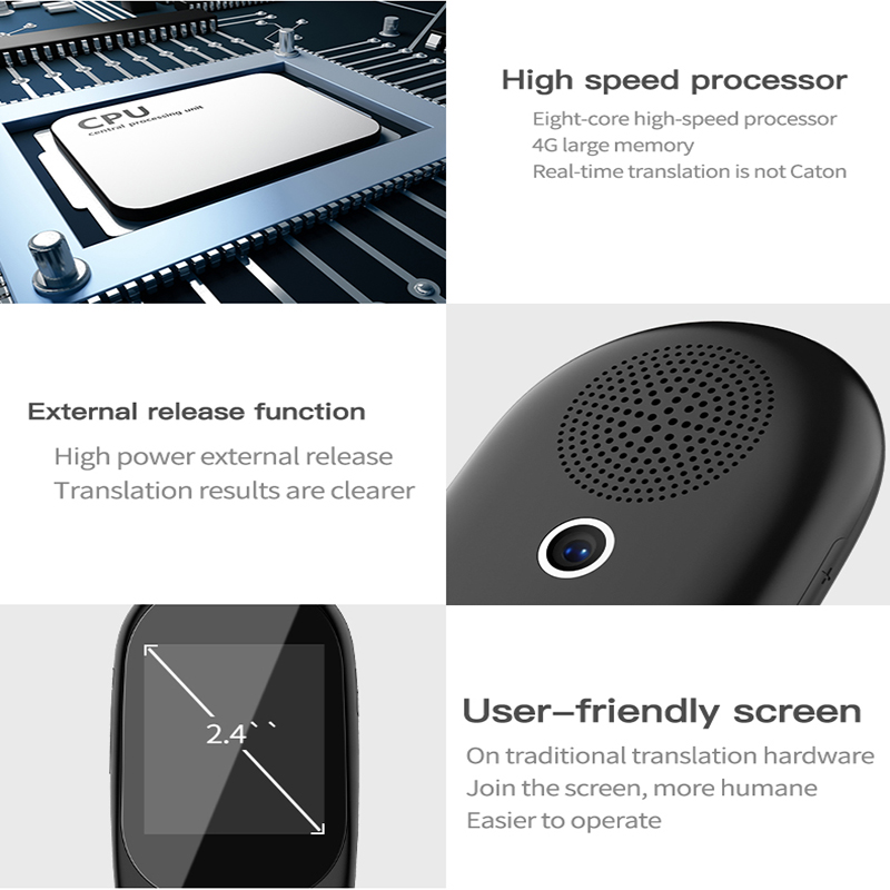 Voice and Photo Scanning Pocket Language Translator with 2.4 Inch Touch Screen and WIFI Supports 79 Languages and Offline Translation 1