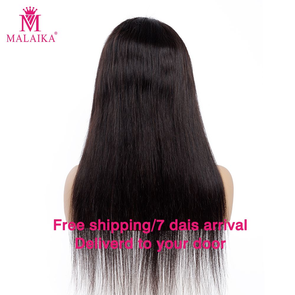 MALAIKA Human Hair Full Lace Wigs Glueless Pre Plucked Natural Hairline With Peruvian Hair Straight Peruvian Malaika Hair Wigs