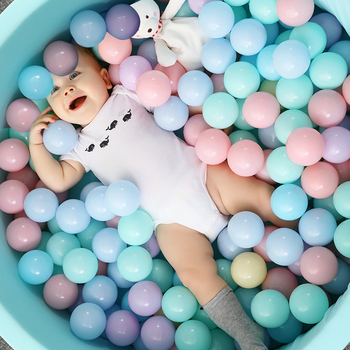 100pcs/5.5cm Colorful Baby Ocean Balls Plastic Soft Water Pool Wave Ball Kids Swim Pit Bath Air Ball Toy Eco-Friendly Fun Ball