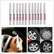 Caneta de marcador de tinta permanente, caneta branca à prova d'água para pintura ambiental do piso do pneu