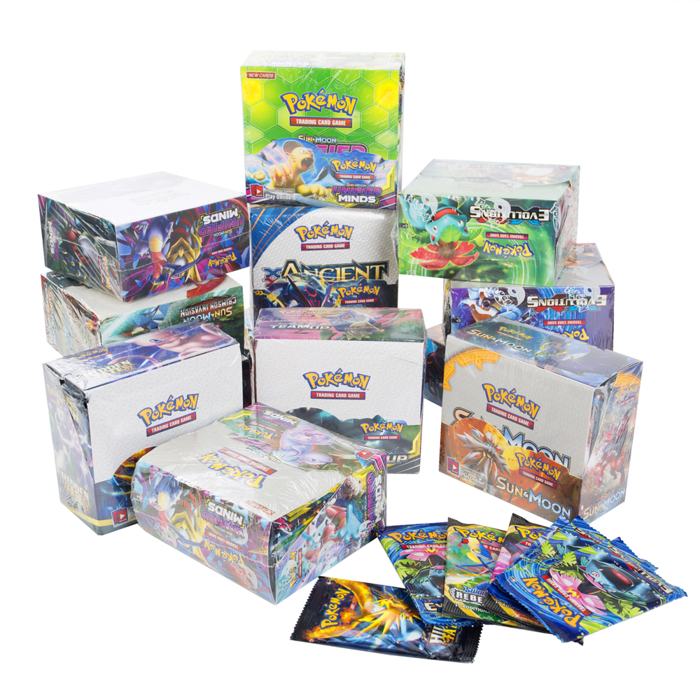 324Pcs Game Collection Cards Pokemon Cards Booster Boxes Sun & Moon Evolution Sword Shield Hidden Fate Trading Card Kids Toys 6