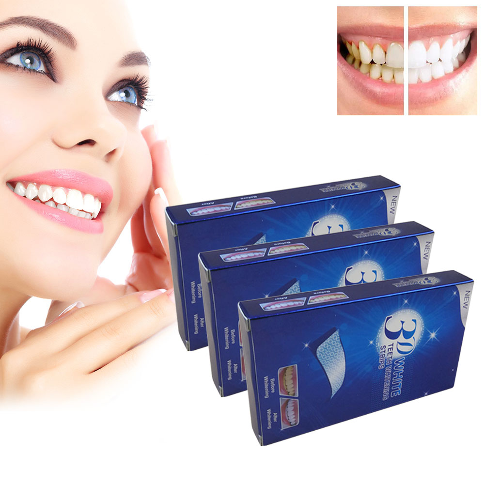 14Pairs/28 Pcs 3D Teeth Whitening Gel Strips Dental Bleaching Oral Hygiene Care Tools Dropshipping SMJ