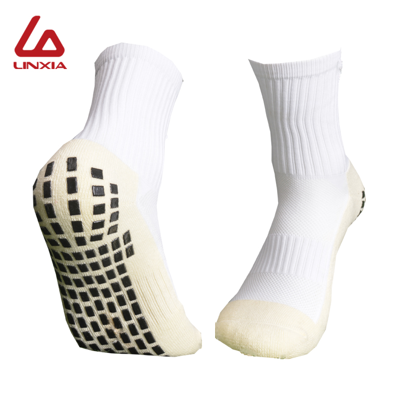 New Men Anti-Slip Football Socks High Quality Soft Breathable Thickened Sports Socks Running Cycling Hiking Women Soccer Socks