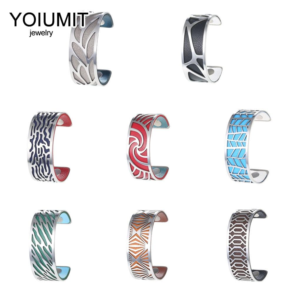Cremo Argent Bracelets & Bracelets pour femme Bijoux brassard Bracelets acier inoxydable Bracelet Manchette Interchangeable cuir