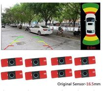 360 around view Diy 8 sensor visual two channel camera option parking detection with 16.5 OEM blind 8 sensor for car detection