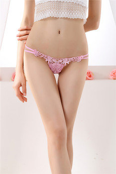 top Hot Bow Cotton Polyester Underwear Lace Sexy G-string Women Panties Hollow Transparent Erotic Lingerie Female Thongs Briefs 2019 new women sexy thongs lace transparent hollow light sexy underwear for adults erotic lingerie g string sexy panties for sex