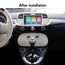 Carplay autoradio android 10 quad core carro dvd media player para fiat 500 rádio multimídia buit em dps carro navegação gps wifi 4g