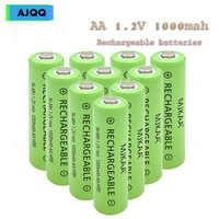 Precio de fábrica 12 Uds. Barato AA 1000 mAh 1,2 V Ni-MH batería recargable para juguetes, coche eléctrico control remoto