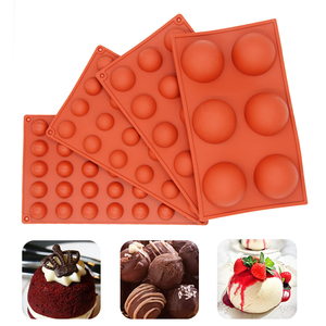 Baking Biscuit Cake Tools Candy Mold Hemispheres Shape Silicone Mold for Chocolate Candy Ice Cube Maker Molds