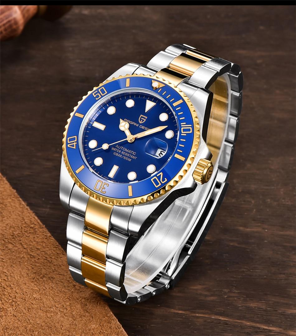 H0c1d2ec261b34d63a7f0f52271af2ea1A PAGANI2019 Design Brand Luxury Men Watches Automatic Black Watch Men Stainless Steel Waterproof Business Sport Mechanical