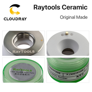Image 3 - Cloudray מקורי שנעשה Raytools לייזר קרמיקה Dia.32mm זרבובית מחזיק עבור Raytools סיבי לייזר חיתוך ראש זרבובית בעל