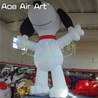 Customized Standing inflatable animal model White Inflatable Dog Balloon for Advertising or party