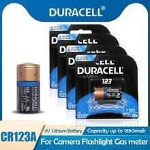 4 sztuk oryginalny DURACELL CR123A CR123 123A 123 CR17345 3V bateria litowa do aparatu dzwonek czujnik dymu zabawki suche pierwsza bateria