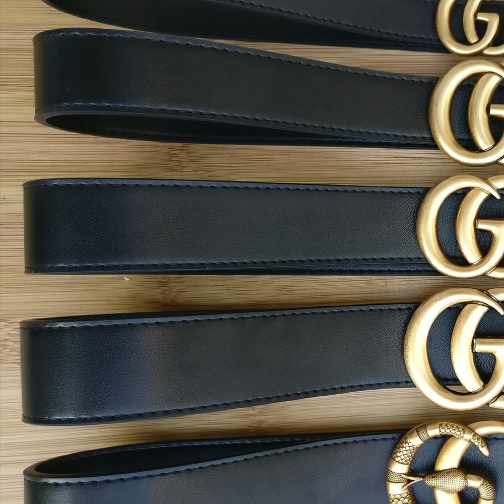 Real Genuine Leather Luxury Designer Famous Brand Top Quality GG Belt Men Women Double G Belts For Dress