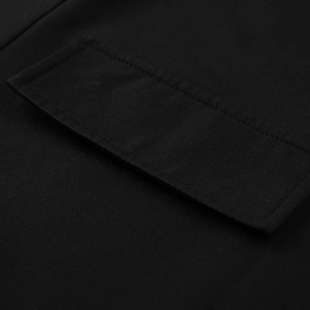 Chaqueta negra de manga larga para oficina, chaqueta suelta, Casual, para mujer, chaqueta para oficina, chaqueta para mujer, chaqueta para mujer