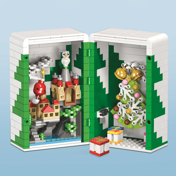 LEGOing Creator Christmas Tree Santa Claus Building Blocks Merry Christmas Gift Box Decorations For Home LEGOings Toys Children 1