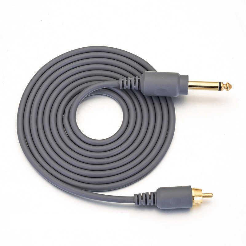 2M באיכות גבוהה רך קעקוע מכונה וו קו קליפ כבל RCA ממשק עמיד קעקוע עט כבל כבל אבזר קעקוע כבל חשמל